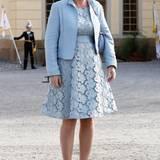 Taufe Prinz Alexander von Schweden: Die schwedische Journalistin Anna von Koch kommt in Babyblau.