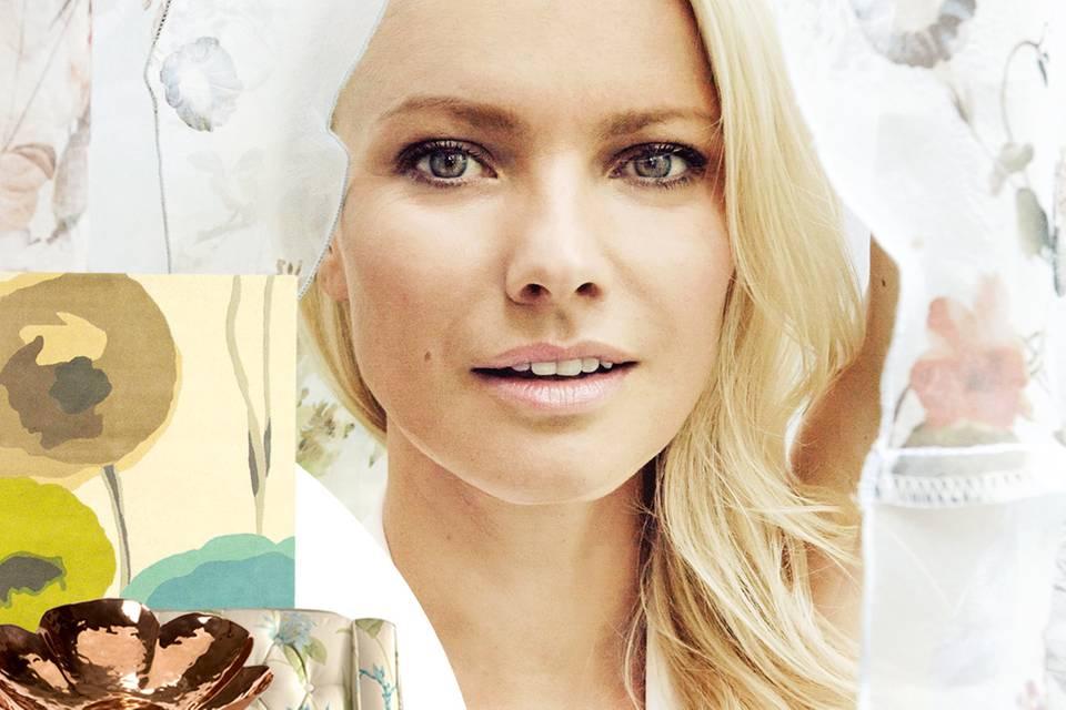 Auch Model Franziska Knuppe liebt florale Muster