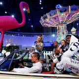 Fergie sorgt im bei Philipp Plein für die perfekte musikalische Untermalung der Fashion-Show.