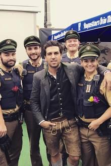 Schauspielstar Elyas M'Barek bedankt sich noch mal ganz herzlich bei der Polizei, die ein sicheres Feiern auf der Wiesn ermöglicht haben.