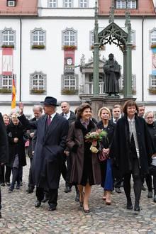 Tag 4  Das schwedische Königspaar wird in Wittenberg herzlich begrüßt.