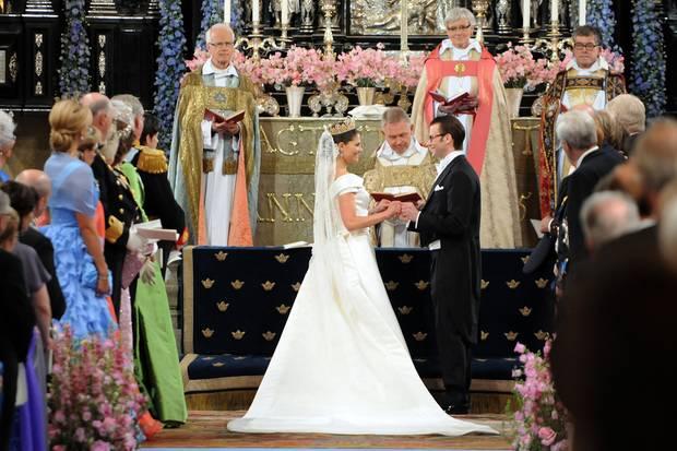 Kronprinzessin Victoria von Schweden und Daniel Westling geben sich am 19. Juni 2010 ihe Ja-Wort