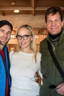 Mathis Landwehr (Schauspieler) mit Anne Meyer-Minnemann (Gala) und Thomas Heinze (Schauspieler).