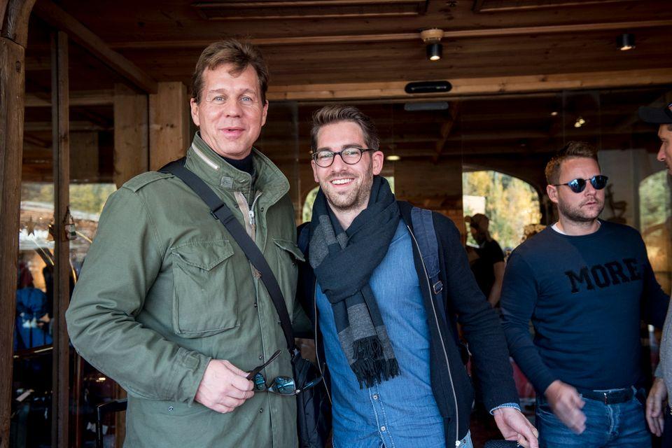 In bester Laune: Schauspieler Thomas Heinze, Simon Hoecker (Gery Weber) und Bastian Ammelounx (La Martina).