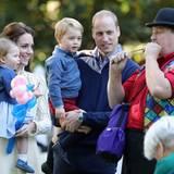 Tag 6  Prinz William, Herzogin Catherine, Prinz George und Prinzessin Charlotte besuchen eine Kinderfeier in British Columbia, Kanada.
