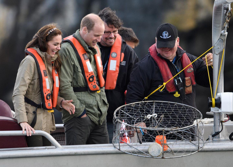 Tag 7  Später geht es für das Herzogspaar zum Angelausflug vor Haida Gwaii ...