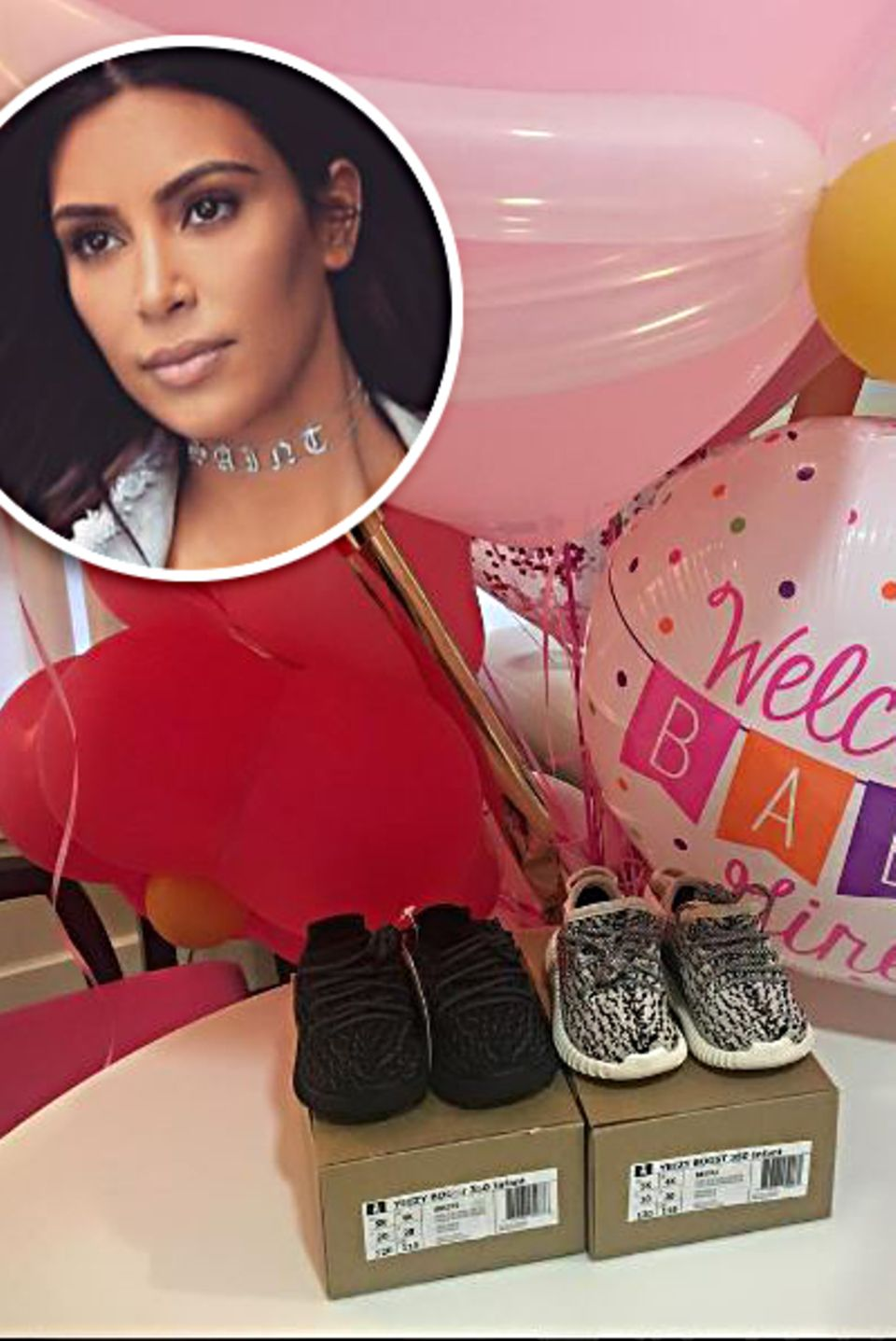 12. November 2016   Das Baby ist da! Rob Kardashian und Blac Chyna sind frisch gebackene Eltern. Es flattern auch schon die ersten Geschenke für Baby Dream Renee Kardashian ein. Kim Kardashian und Kanye West kümmern sich um den richtigen Style und schenken ihr die ersten Sneakers. Auch wenn man von ihrer Tante Kim nicht viel hört, ist sie offensichtlich doch in die Familienevents involviert. Es gibt also Hoffnung bald wieder direkt von ihr zu hören.