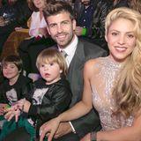 """2. Dezember 2016  Shakira räumt bei den """"Los 40 Music Awards"""" in Barcelona ab. Ihre Liebsten sind zur Unterstützung mit dabei."""