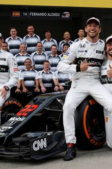 Drei Rennfahr-Hotties auf einen Streich: Stoffel Vandoorne, Jenson Button und Fernando Alonso