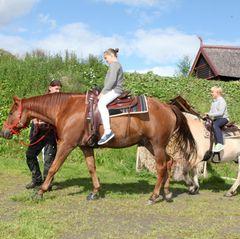 Royale Reiter der jüngeren Generation: Prinzessin Ingrid Alexandra und ihr Bruder Sverre auf dem Rücken der beliebten Vierbeiner.