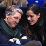 """20. November 2016: Bastian Schweinsteiger und Ana Ivanovi? besuchen gemeinsam die """"ATP World Tour Finals"""" in London. Das Tennisturnier wird für das turtelnde Paar jedoch zur Nebensache."""