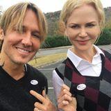 Auch Nicole Kidman und Ehemann Keith Urban sind zur Wahl gegangen.