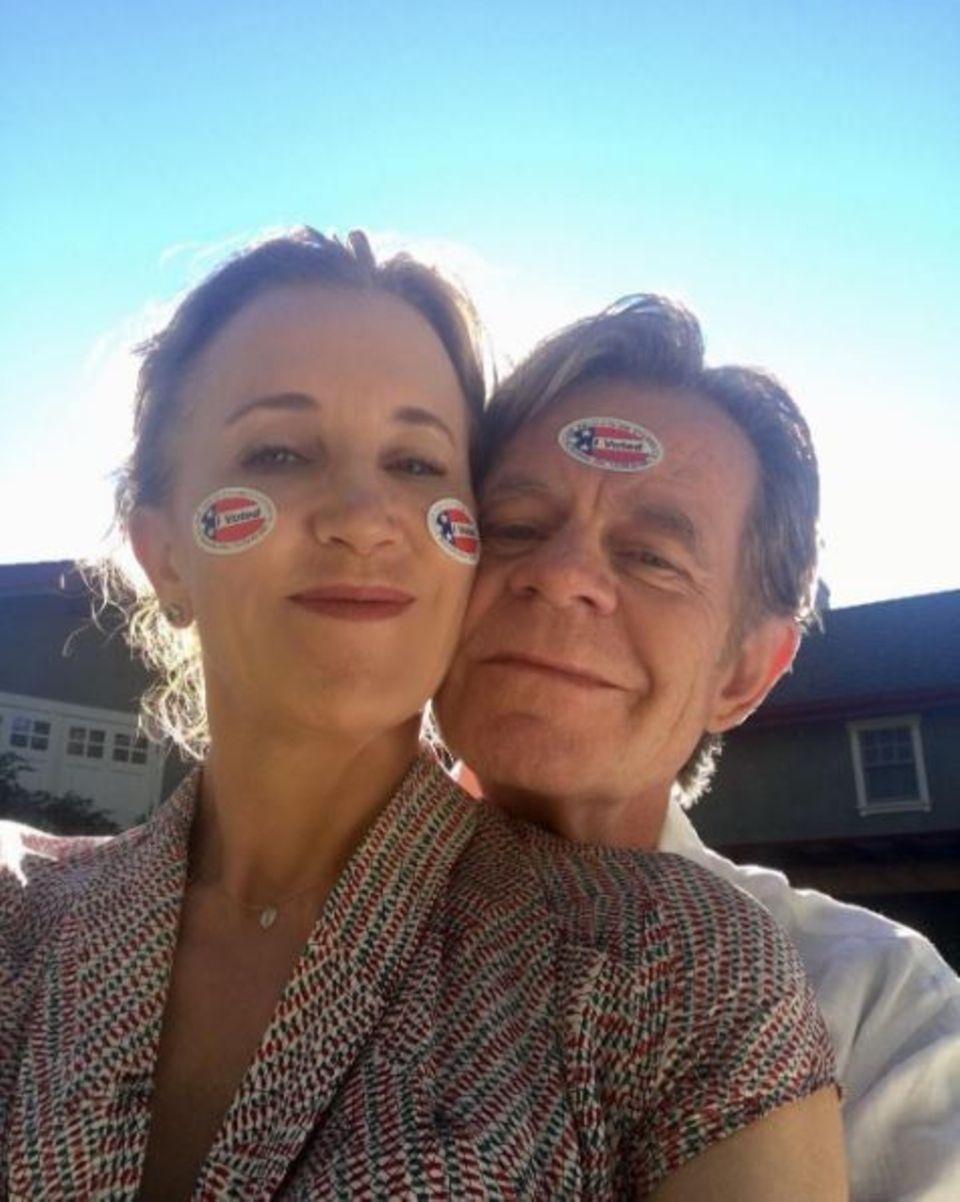 """Schauspielerin Felicity Huffman und ihr Ehemann William Macy: """"Wir lieben Hillary!"""""""