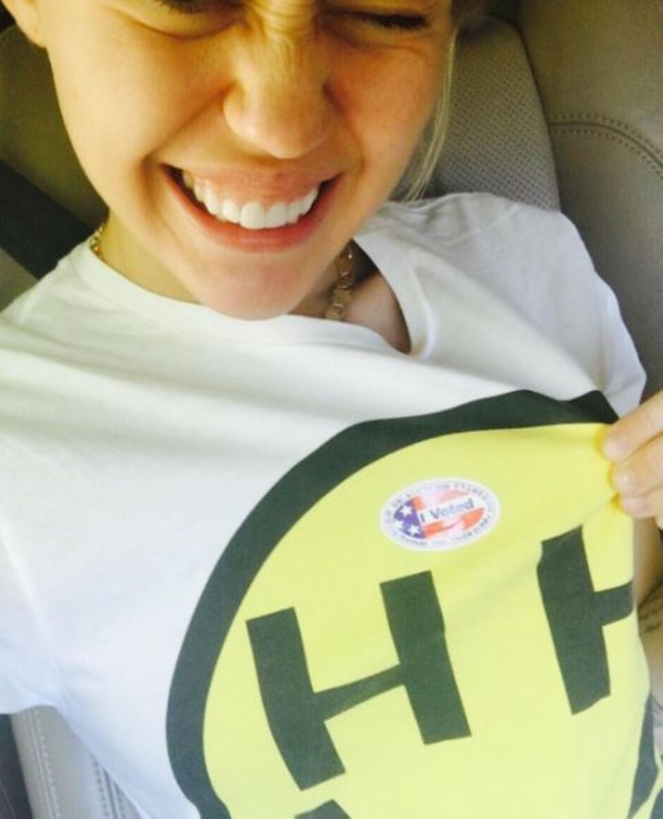 Miley Cyrus hat für Hillary Clinton gestimmt.