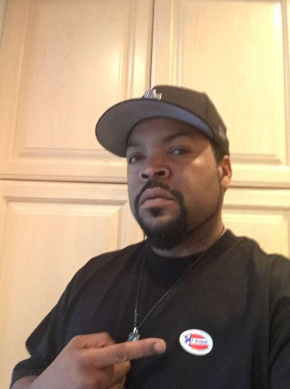 """""""Wenn ich meinen Arsch so früh hochbekommen und wähle, dann kannst du das auch"""", meinte Ice Cube."""