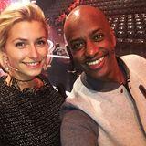 Hier strahlen beide, sowohl die Moderatorin Lena Gercke, als auch Yared Dibaba, der für Bremen das Tanzbein schwingen wird.
