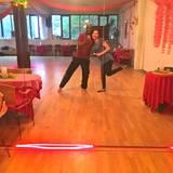 Yared Dibaba sendet den Fans ein Foto vom Tanztraining: Tanzen, Tanzen, Tanzen heißt es nun, damit er es für Bremen in Halbfinale schafft.