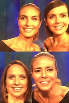 """Camilla Belle und Anne Fulenwider waren zu Gast bei Heidi Klums Show """"Project Runway"""": Dank Heidis """"face-swap""""-Vorliebe sind wir jetzt total verwirrt."""