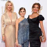 Ganz unterschiedlich präsentieren sich Monica Ivancan, Cathy Hummels und Jana Ina Zarrella auf dem roten Teppich.