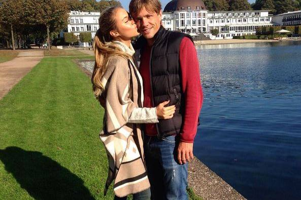 Alena Gerber und Clemens Fritz sind glücklich verliebt