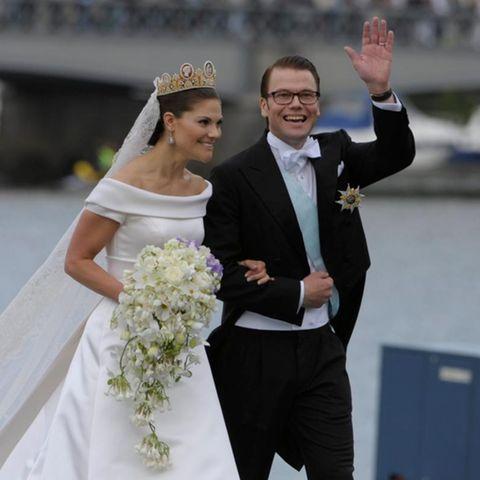 Prinzessin Victoria mit Ehemann Daniel bei ihrer Hochzeit 2010