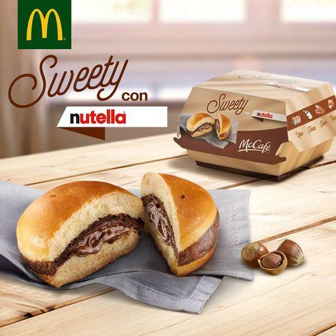 Der Sweety-Burger mit Nutella.