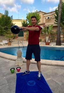 Lucas Cordalis beim Workout