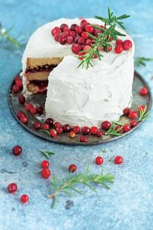 Cranberry-Cake mit Frosting