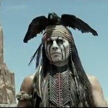 "Jonny Depp als Indianer ""Tonto"" in ""Lone Ranger"""