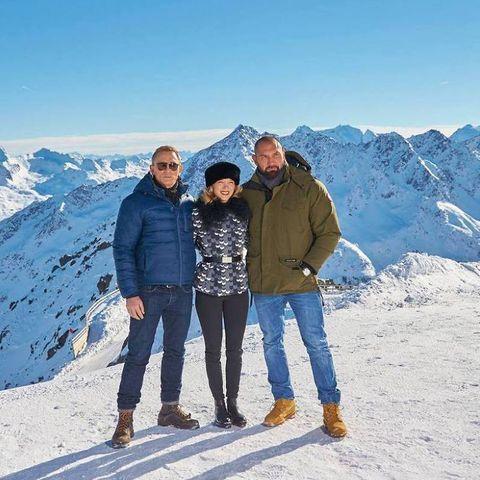 Daniel Craig, Léa Seydoux, Dave Bautista