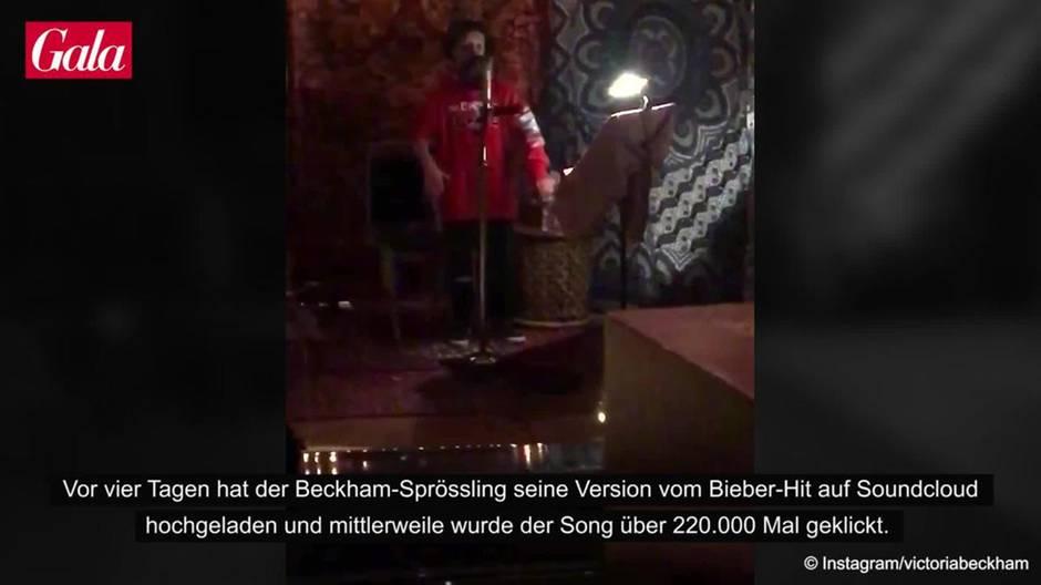 Cruz Beckham: Er covert Songs von Justin Bieber