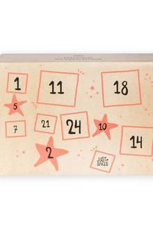 Würzige Weihnachten Feinste Kräuter und Gewürze sowie nützliche Gadgets verstecken sich hinter den 24 Türchen. An die Töpfe, fertig, los! Adventskalender von Just Spices, ca. 60 Euro