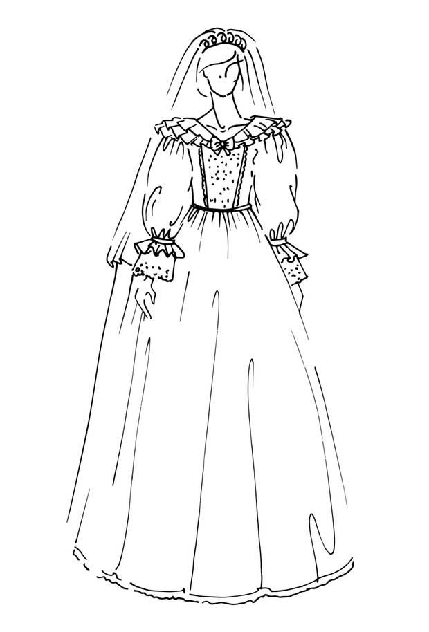 Brautkelid von Prinzessin Diana, Hochzeit am 29. Juli 1981  Das legendäre opulente Kleid war aus elfenbeinfarbenem Seidentaft und antiker Spitze, danach von Hand mit Spitze, Schleifen und mehr als 10.000 kleinen Perlen bestickt. Mit einer Länge von 7,62 Metern hält die Prinzessin von Wales zudem den Schleppen-Schlepp-Rekord. Design: David + Elizabeth Emanuel