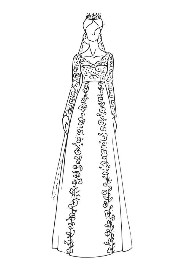 Brautkleid von Prinzessin Sofia von Schweden, Hochzeit am 13. Juni 2015.  Auch hier: Spitze, Spitze, Spitze, handbestickt, auf Seidencrepe und Seidenorganza. Design: Ida Sjöstedt