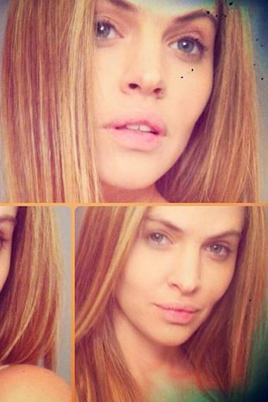 Eine kleine Neujahrsüberraschung für ihre Agentur: Topmodel Hana Nitsche präsentiert über Instagram ihre frisch blondierten Haare.
