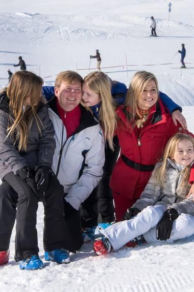 Die niederländische Königsfamilie schickt winterliche Grüße an ihr Volk