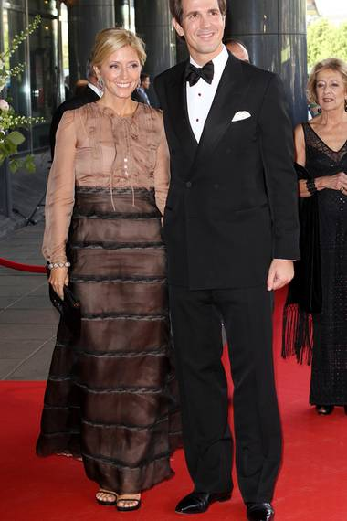 Die griechische Prinzessin hat das Kleid von Valentino als Erste für sich entdeckt. Sie hat es zum 40. Geburtstag von Königin Máxima getragen.