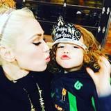 An Silvester darf auch der Kleinste mal länger wachbleiben: Gwen Stefani und Söhnchen Apollo feiern die letzte Nacht des Jahres.