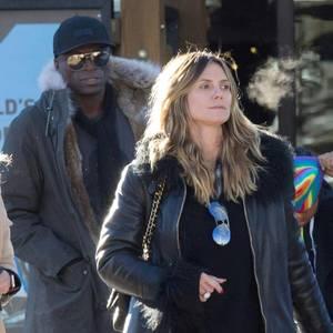 Heidi klum shopping trip mit seal und den kindern for Jeanshemd lang