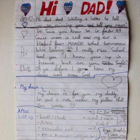Junge verliert Vater: Schotte findet seinen Brief - und sucht ihn