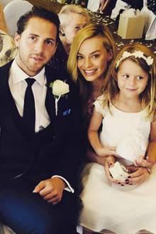Margot Robbie und Tom Ackerley bei der Hochzeit von Freunden. Nun sollen sie selbst geheiratet haben.