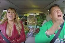 James Corden und Mariah Carey.