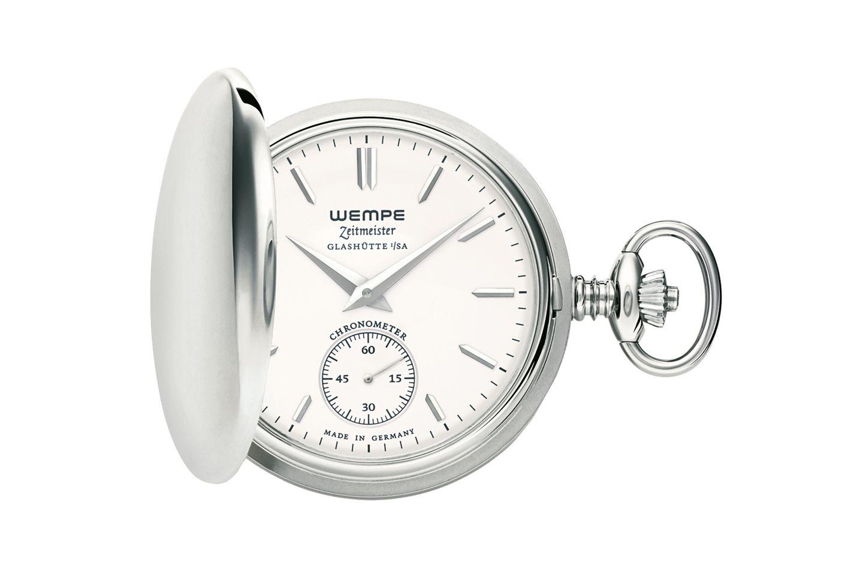 Klassiker im neuen Design: Taschenuhr von Wempe, ca. 1.300 Euro