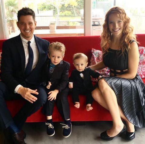 Michael Bublé und seine Frau Luisana Lopilato mit den gemeinsamen Kinder Noah und Elia