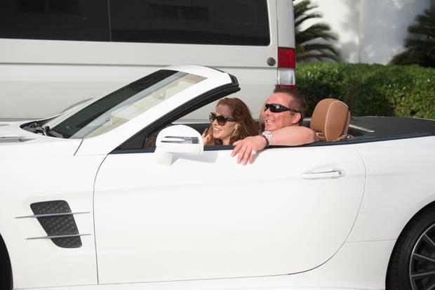 Georgina Fleur und Marcus Prinz von Anhalt sind in Miami Beach auf Turtel-Kurs