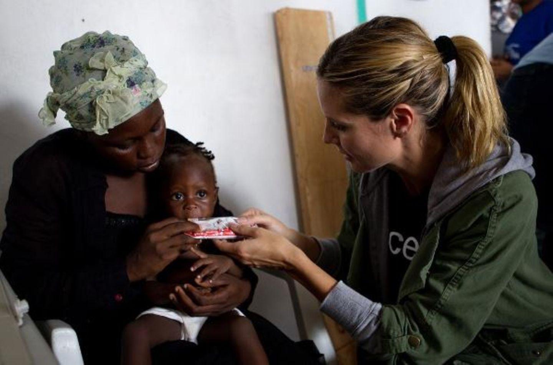 Heidi Klum nutzt ihre Prominenz um sich für Kiner in Not einzusetzen.