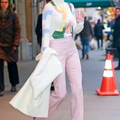Ein Traum in Rosa: Ivanka Trump präsentiert sich in einem frühlingshaften Look in New York City.