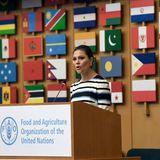 Die Kronprinzessin spricht vor dem Plenum von FAO, der Ernährungs- und Landwirtschaftsorganisation der Vereinten Nationen.