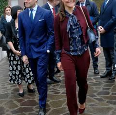Anschließend besichtigt das Paar das Forschungskrankenhaus San Raffaele.