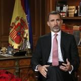 24. Dezember 2016  König Felipe hält die traditionelle Weihnachtsansprache aus dem Zarzuelapalast.